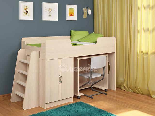 Детская кровать со столом Легенда-2.2