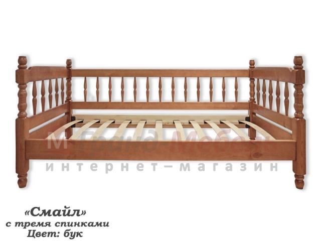 """Детская кровать """"Смайл с тремя спинками"""""""