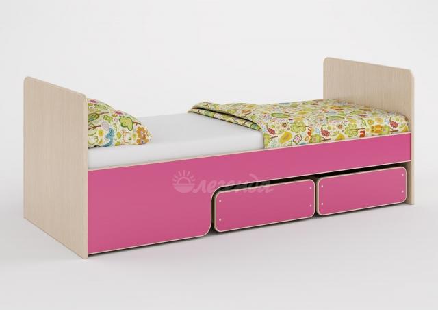 Кровать Легенда-40 розовый/лайм/