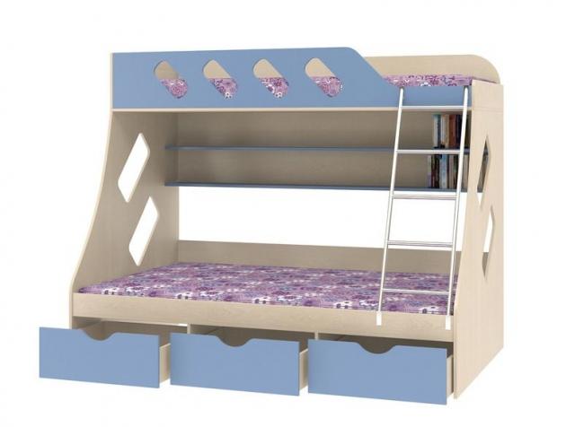 Двухъярусная кровать Дельта 20.01 орех