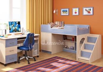Детская кровать со столом Легенда-2.3