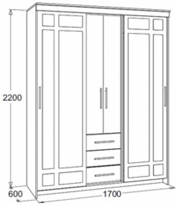 Мираж-4 Шкаф комбинированный