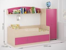 Детская кровать Омега-12 ЛДСП для мальчика