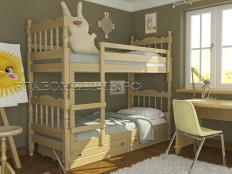 """Двухъярусная кровать  """"Соня"""" (массив)"""