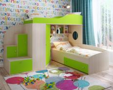 Кровать с ящиками 140