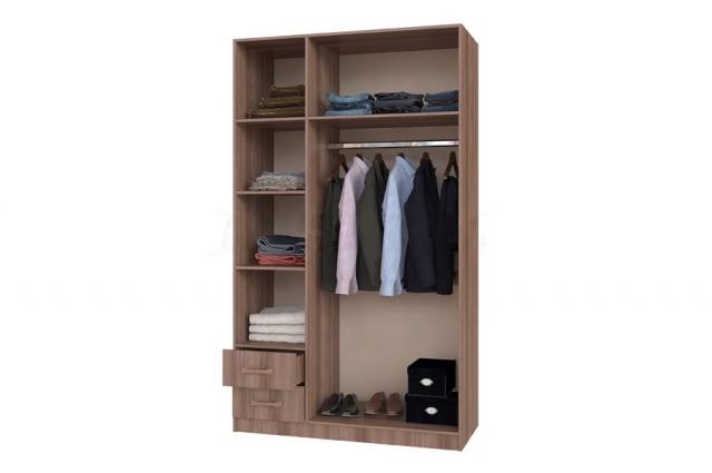 Шкаф 3-ств. с ящиками
