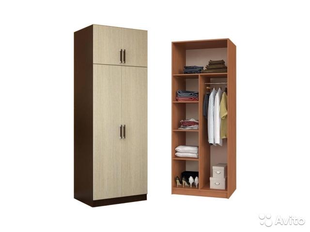 Шкаф 2-ств. с перегородкой