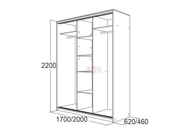 Мираж-20.1.1 (два зеркала) (Глубина 62 см)