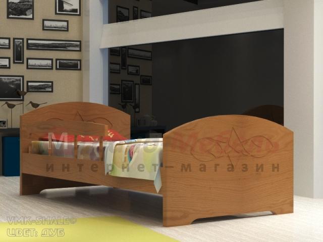 """Детская кровать """"Жанна"""" с бортиком"""