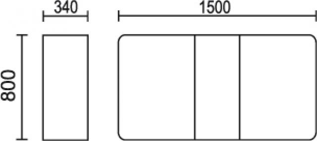 Стол-книжка с ящиками и полками