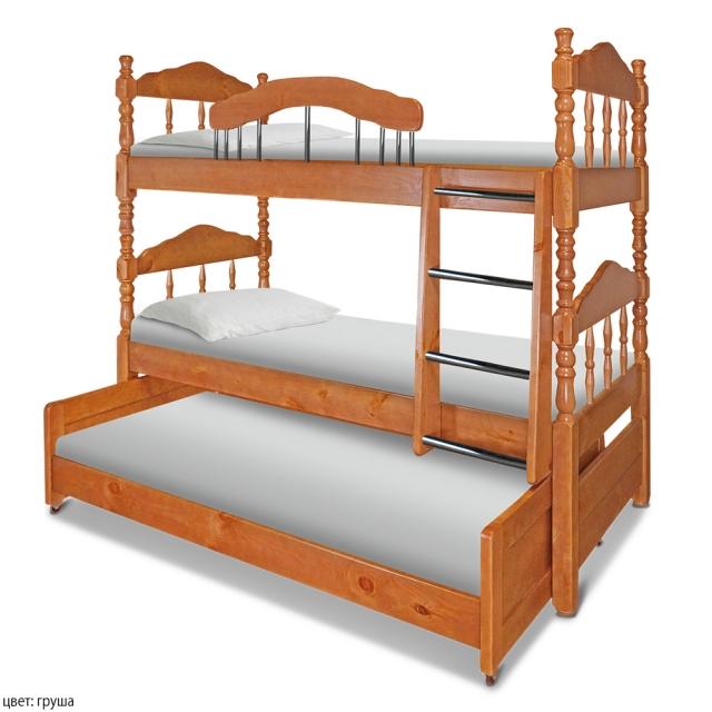 Двухъярусная кровать Альбион Массив
