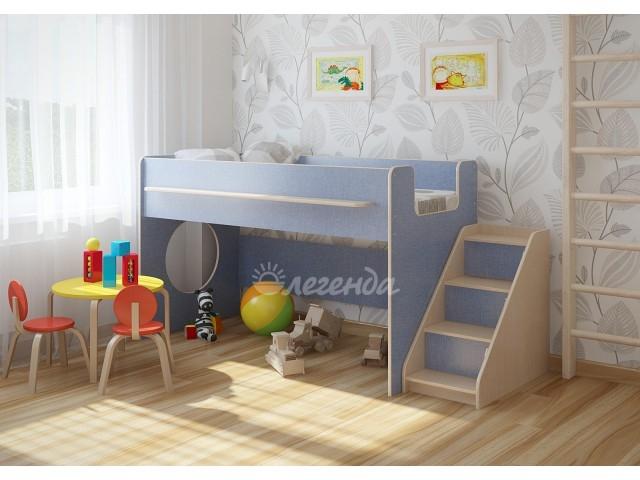 Кровать Легенда 23.2 лайм/голубой/