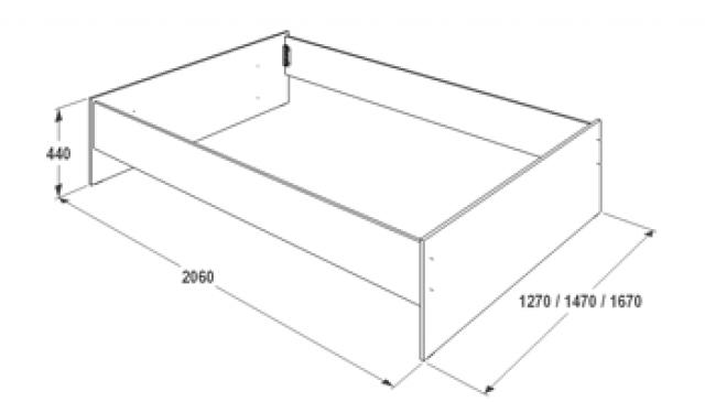 Кровать двуспальная Ольга-14 с ящиками