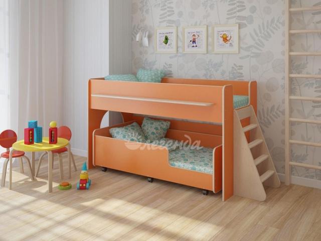 Кровать Легенда-23.3     лайм/оранж/др. цвета