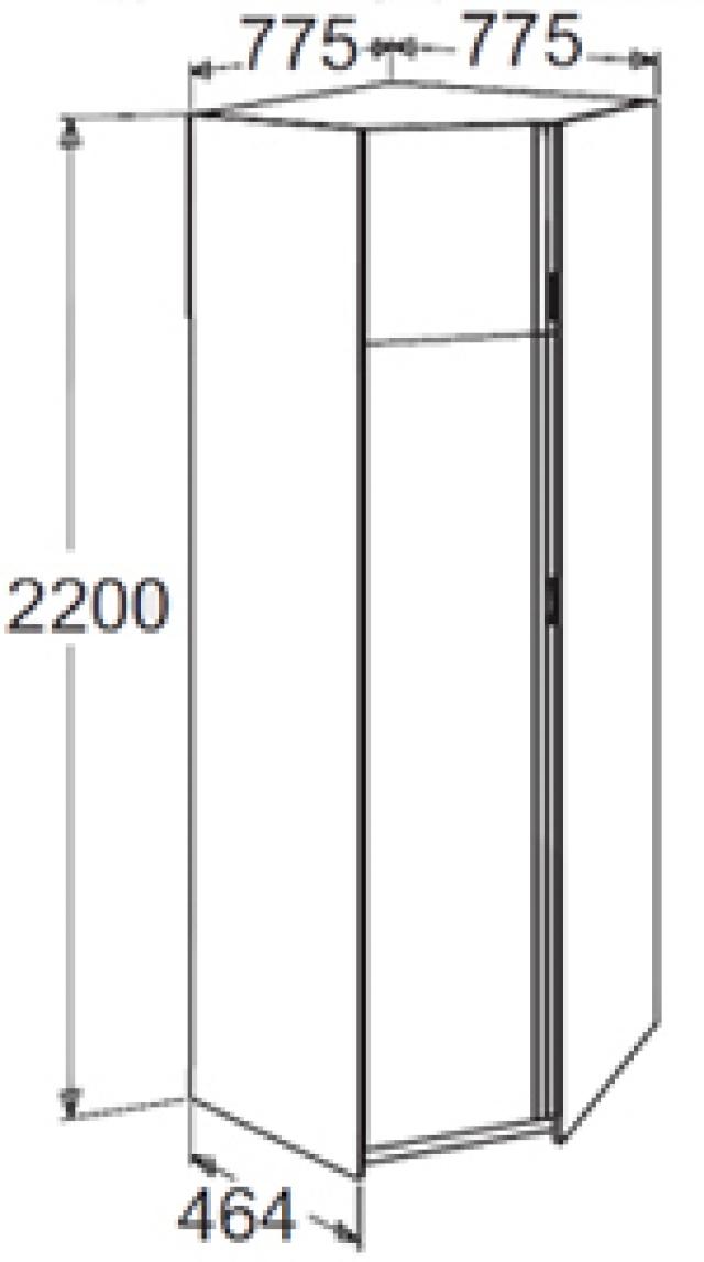 Флагман-5 Шкаф угловой