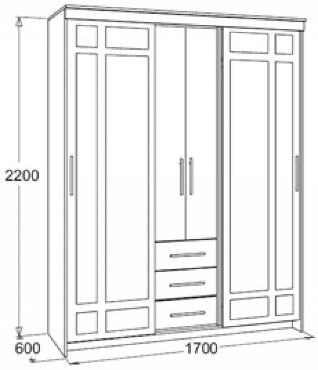 Мираж-4.2 Шкаф комбинированный