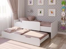 Кровать выдвижная Легенда 14.2 белая