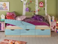 Кровать  Дельфин  фасад 3D МДФ  голубой