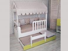 Детская кровать-домик со вторым выдвижным местом