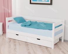 Кровать Пирус, массив, без покраски