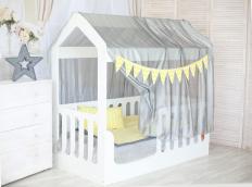 Кровать-домик с верхом белый-1
