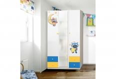 Шкаф 3-х дверный с ящиками и фотопечатью Совята-3.2