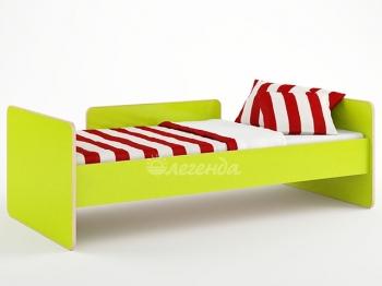 Кровать Легенда-14 голубой/лайм/